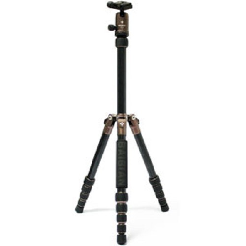 BAIBIAN Portable Tripod [F225] - Brown - Tripod Combo With Head